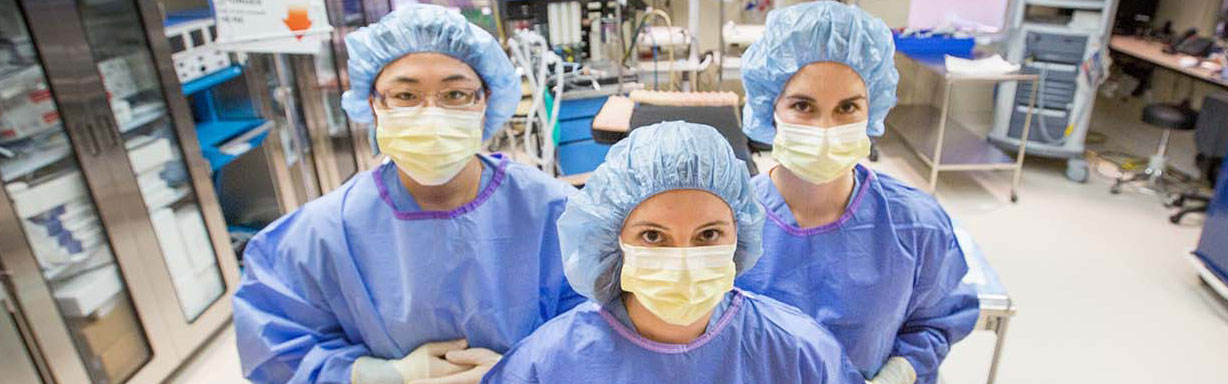 Residents preparing for surgery