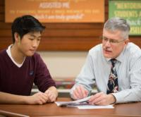 Tutor and student at the Creighton EDGE